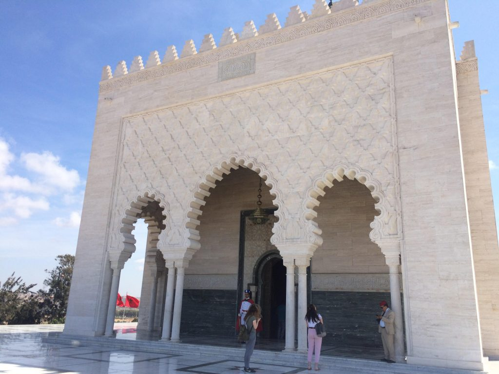 Mausoleum Mohammed V on the site of Hassan Tower