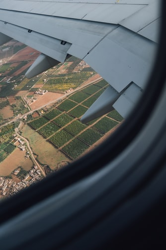 A view of Moroccan landscape from a plane.
