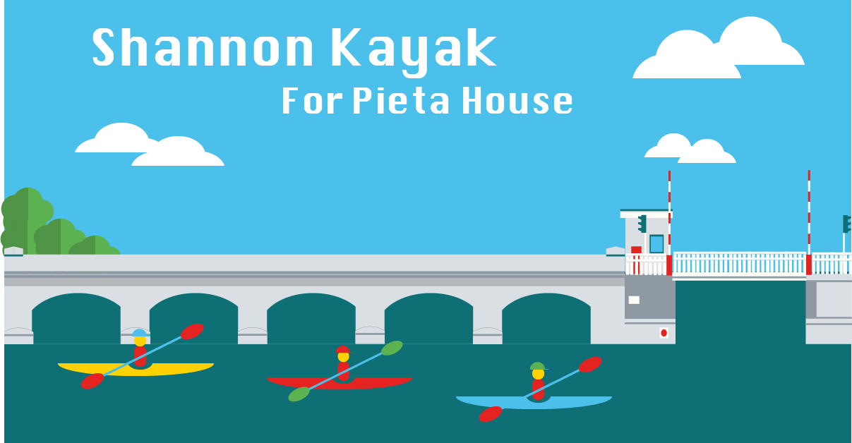 Kayaking the Shannon for Pieta House